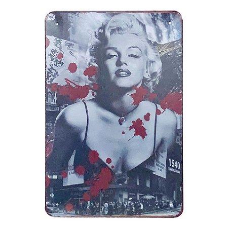 Placa de Metal Marilyn Monroe