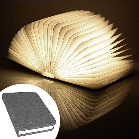 Luminária Livro sem fio BookLight Seven Colors - capa cinza