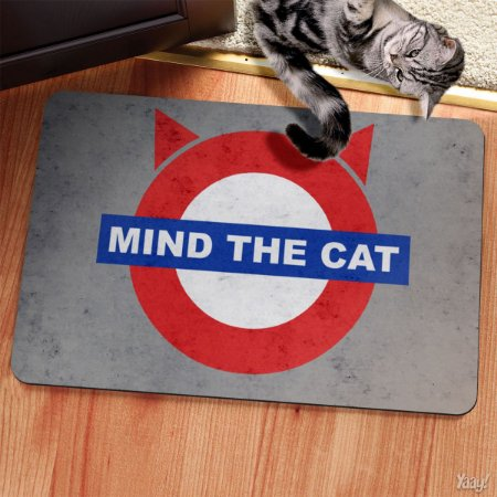Capacho Eco Slim 3mm Mind The Cat