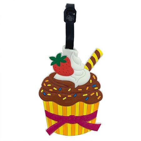 Tag de Mala para viagem Cupcake