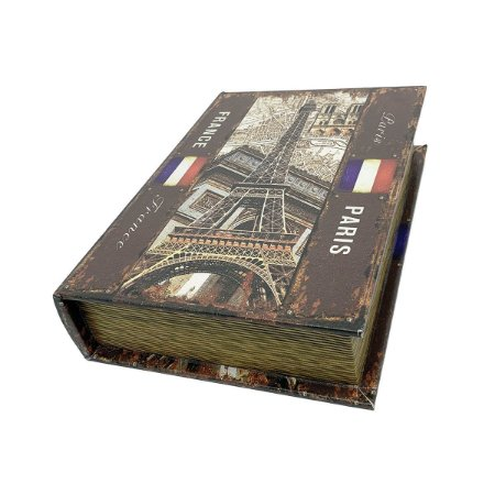 Caixinha Livro Decorativa France Paris - 18 x 13 cm