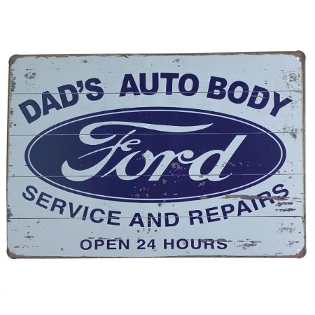 Placa de Metal Ford - 30 x 20 cm