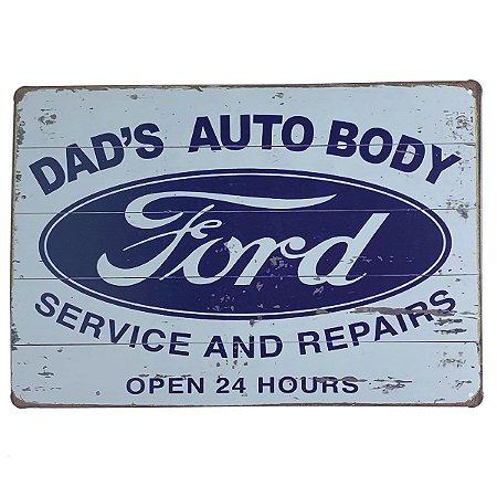 Placa de Metal Ford - 30 x 20 cm