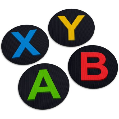 Jogo de Porta Copos Botões de Controle ABYX - 4 peças