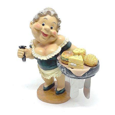 Kit Estátua Suporte com Espátulas para manteiga - 5 peças