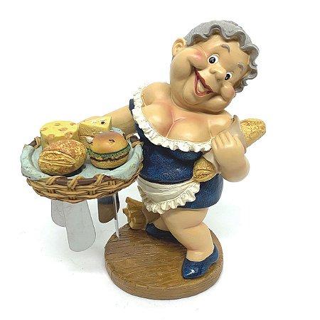 Kit Estátua Cesta com Espátulas para manteiga - 5 peças