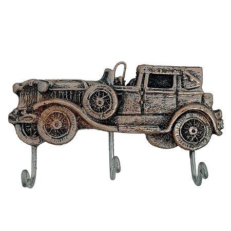 Cabideiro Porta Chaves Rústico Calhambeque - Resina cor Cobre