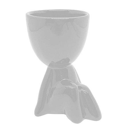 Vasinho Decorativo boneco Robert - branco