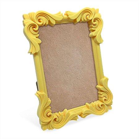 Porta Retrato moldura Flor - amarelo