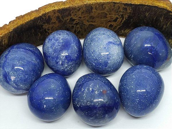 Yoni Ovo Quartzo Azul SEM FURO para Pompoarismo / Cristaloterapia / Energia Quântica (Kegel)