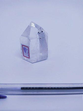 Ponta De Cristal Gerador - Cristal Hialino / Cristal de Quartzo - Sextavado - 100% Natural - 67 Gramas