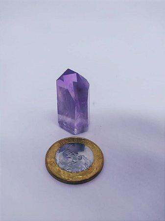Ponta De Cristal Gerador - Ametista - Sextavado - 100% Natural - 18 Gramas