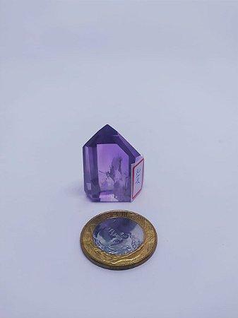 Ponta De Cristal Gerador - Ametista - Sextavado - 100% Natural - 23 Gramas