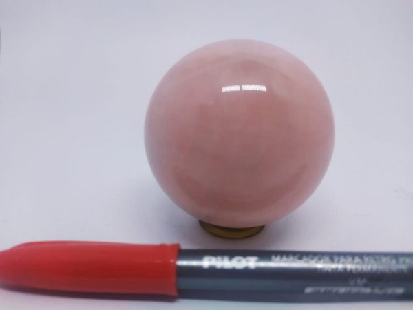 Bola Esfera de Quartzo Rosa - 100% Natural - 391 Gr
