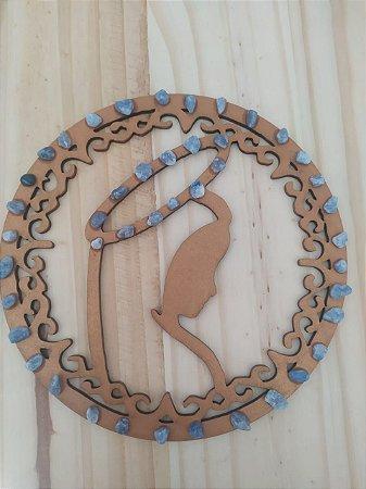 Mandala Virgem Maria de Cristais Pequenos - Energização de Ambientes - 14 Centímetros