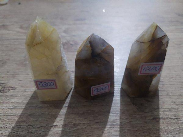 Ponta De Cristal de Quartzo Hematóide Gerador - Sextavado