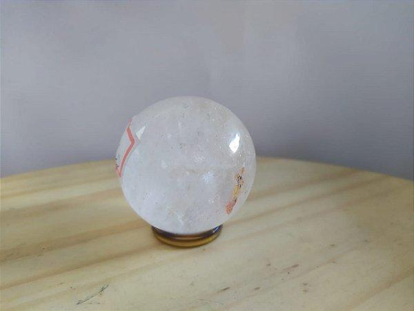 Bola Esfera de Cristal em Quartzo Cristal - 100% Natural - 107 gr