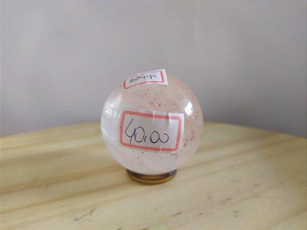 Bola Esfera de Cristal em Quartzo Cristal - 100% Natural - 124 gr