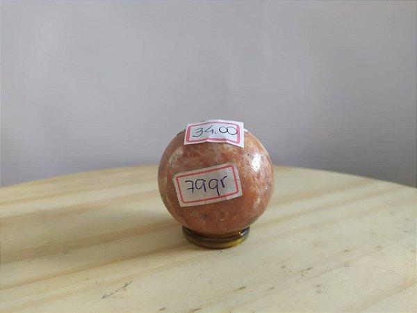 Bola Esfera de Calcita Laranja - 100% Natural - 79 gr