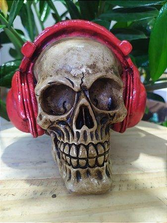 Crânio / Caveira Estilo Barroco - Com Fones de Ouvido