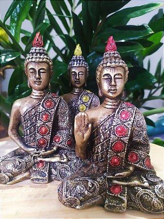 Buda Meditação - Arte Barroca - Pintado a Mão