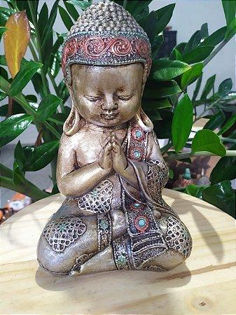 Buda Criança todo pintado a mão - Arte Barroca