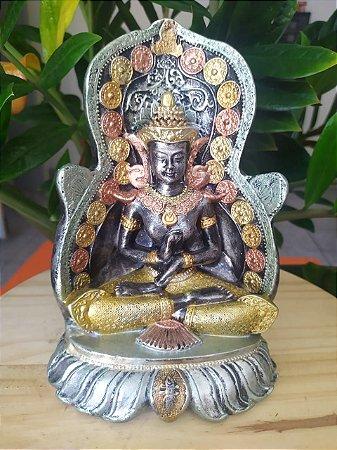 Shiva no Altar - Arte Barroca - Todo pintado a mão