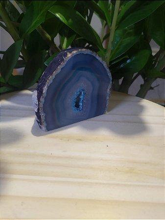Geodo de Ágata Azul Pequeno