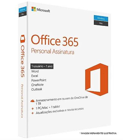MICROSOFT OFFICE 365 PERSONAL – PARA 1 COMPUTADOR (PC OU MAC) E 1 TABLET OU SMARTPHONE – ESD
