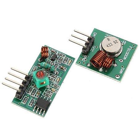 Módulo RF Transmissor e Receptor 433Mhz AM