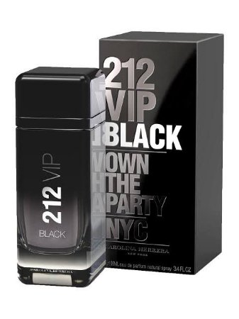 212 Vip Black Men by Carolina Herrera com 100 ml - Tester