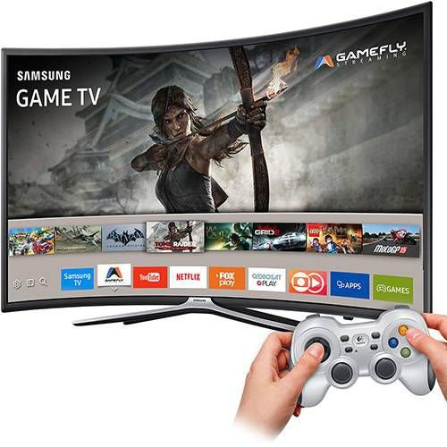 "Smart TV Games LED 49"" Samsung 49K6500 Full HD Curva 49k6500 com Conversor Digital 3 HDMI e 2 USB Conectividade Smartphones Wi-Fi 60Hz"