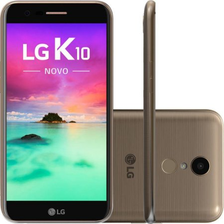 Smartphone Lg K10 New Dual Chip Tela 5,3 - Dourado
