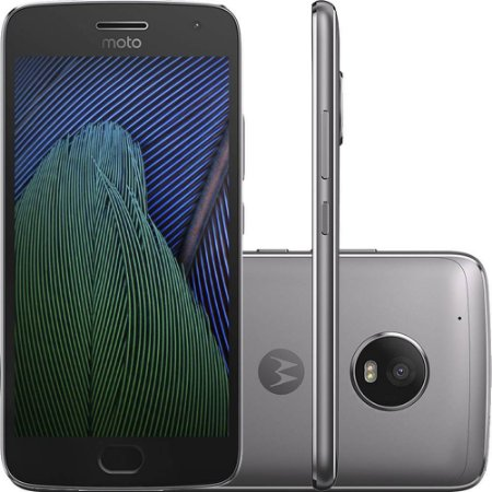 "Smartphone Moto G5 Plus Dual Chip Android 7.0 Tela 5.2"" 32GB 4G Câmera 12MP - Platinum"