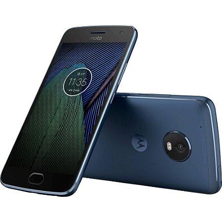 "Smartphone Motorola Moto G5 Plus Dual Chip Android Nougat 7.0 Tela 5,2"" Octa-Core 2GHz 32GB 4G Câmera 12MP - Azul Safira"