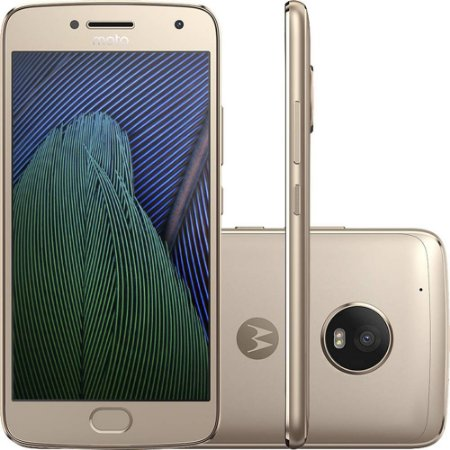 "Smartphone Moto G 5 Plus Dual Chip Android 7.0 Tela 5.2"" 32GB 4G Câmera 12MP - Ouro"