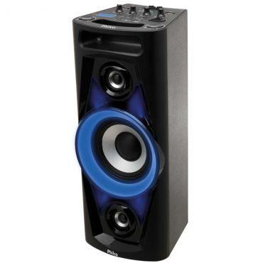 Caixa de Som Amplificadora Bluetooth 100W RMS Philco, Dual USB, Rádio FM, Entrada para Guitarra e Auxiliar, Bateria com duração de até 4h - PHT3000