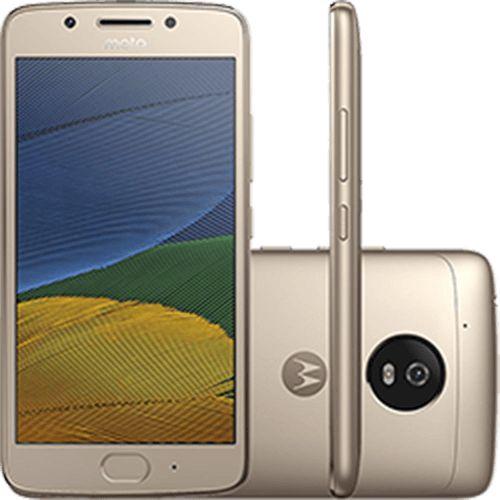 """Smartphone Moto G5 Dual Chip Android 7.0 Tela 5"""" 32GB 4G Câmera 13MP - Ouro"""