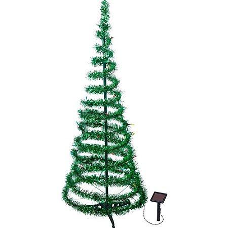 Árvore De Natal Solar Com Pisca 1,5m
