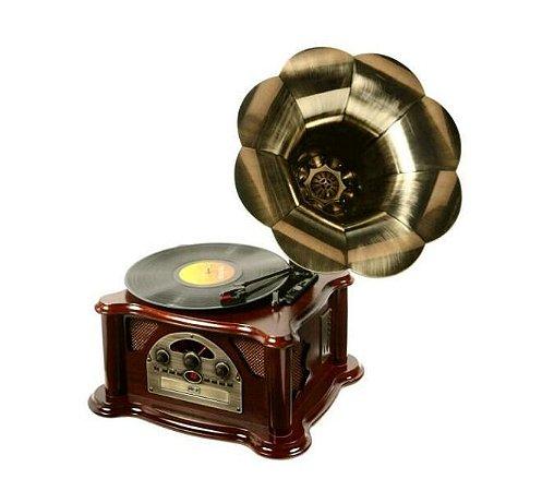 Gramofone Vitrola 10w, Mp3, Usb, Cd, Rádio E Vinil Ribeiro E Pavani