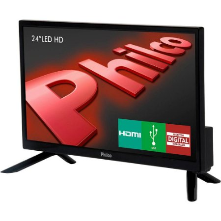 "TV LED 24"" Philco HD com Conversor Digital 1 HDMI 1 USB Sleep timer - 60Hz"