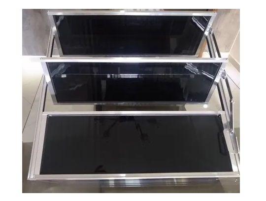 Janela Basculante De Aluminio 3 Vitrôs - 60x60cm