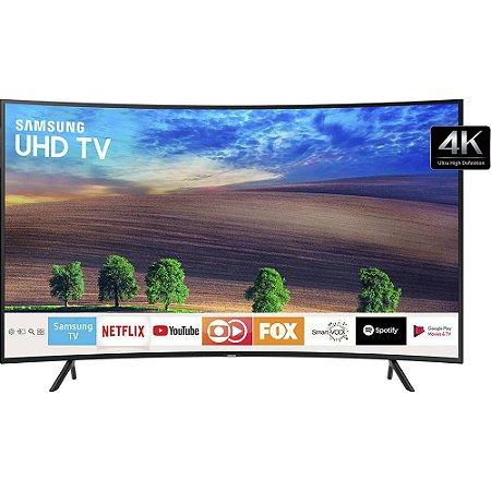 """Smart TV LED Tela Curva 49"""" UHD Samsung 49NU7300 Ultra HD 4k com Conversor Digital 3 HDMI 2 USB Wi-Fi Visual Livre de Cabos HDR Premium Smart Tizen"""