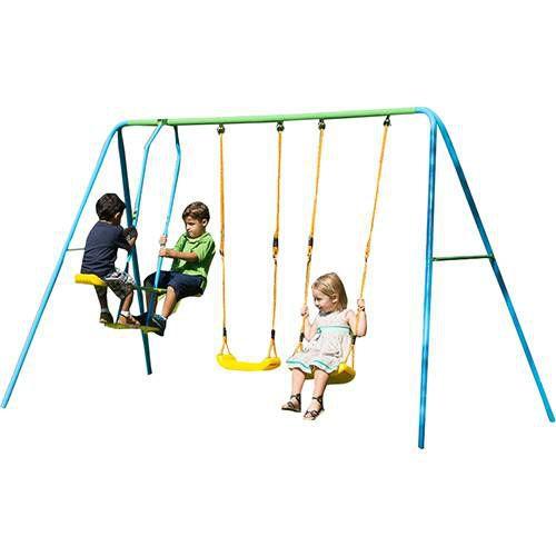 Playground Multi com 2 Balanços Individuais 1 Balanço Vai e Vem brink+