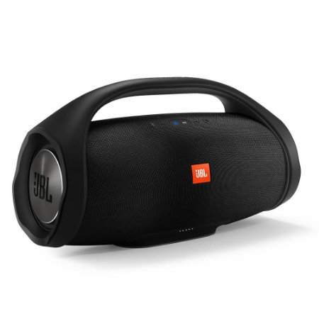 Caixa de Som Portátil JBL Boombox com Bluetooth, Connect+, À prova d'água - Preta
