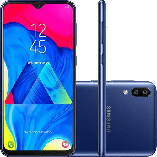 "Smartphone Samsung Galaxy M10 32GB Dual Chip Android 8.1 Tela 6,2"" Octa-Core 4G Câmera 13+5MP - Azul"