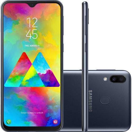 "Smartphone Samsung Galaxy M 20 64GB Dual Chip Android 8.1 Tela 6.3"" Octa-Core 4G Câmera 13MP + 5MP - Preto"