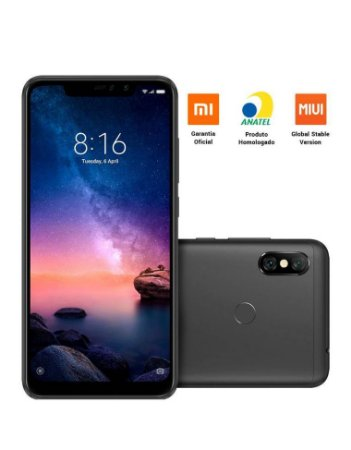 "Smartphone Xiaomi Redmi Note 6 Pro - 64Gb - Tela 6.26"""