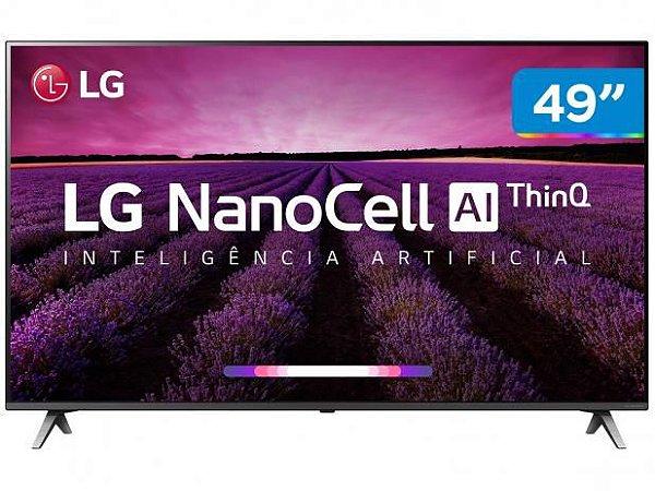 "Smart TV 4K NanoCell 49"" LG - Wi-Fi - HDR Inteligência Artificial Conversor Digital"
