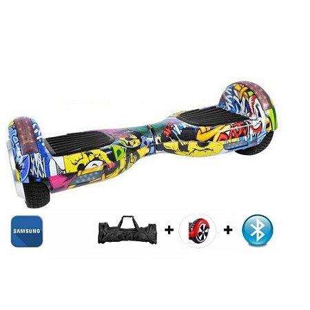 Hoverboard 6.5 Polegadas Hip-Hop Smart Balance com bolsa - Bluetooth, Led Lateral - Bateria Samsung